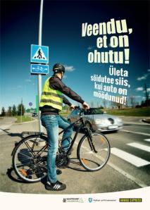 Jalgrattur, ole meheks ja ära kiirusta ülekäigurajale, sest tegelikult ei ole sul ju eesöigus.